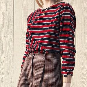 Vintage • Abstract Stripe Pullover